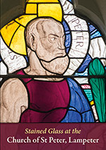 Cover of Stained Glass at the Church of St Peter Lampeter, with detail of St Peter by Wilhelmina Geddes.