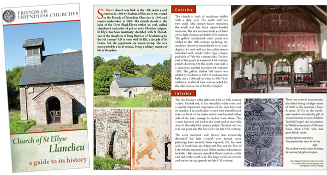 Leaflet for Llanelieu Church.